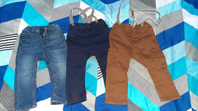 Spodnie dżinsy h&m 80