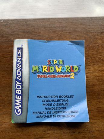 Super Mario world 2 - Gameboy advance (instruções)
