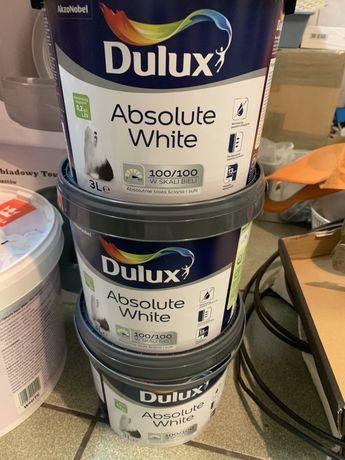 Farba dulux absolute white 9l