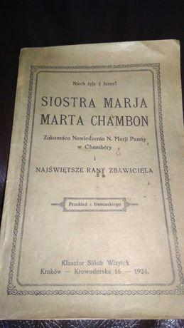 Siostra Maria Marta Chambon 1924