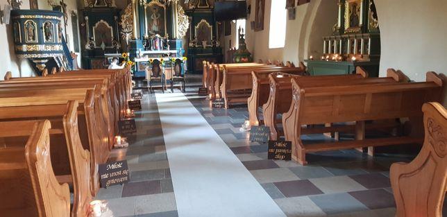 Tablice tabliczki hymn o miłosci dywan,dekoracjs kosciól ślub