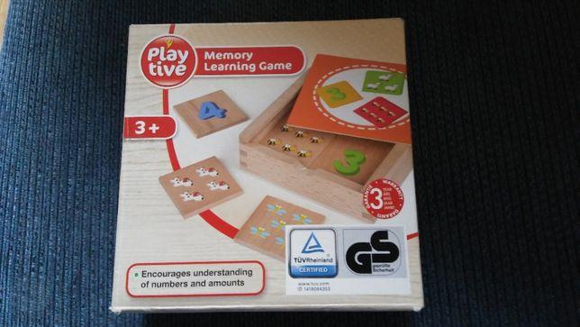 PLAYTIVE Klocki drewniane nauka liczenia Memory Learning Game