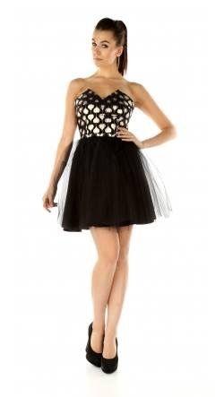 Ekskluzywna rozkloszowana sukienka z szyfonem S