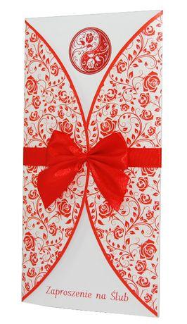 Zaproszenia ślubne - kolekcja FLORAL RED + koperta