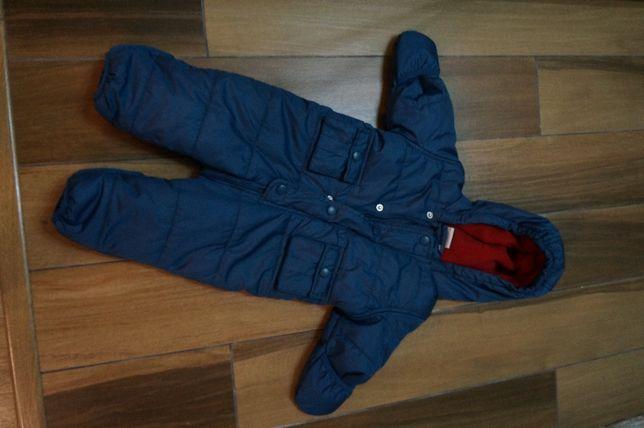 Kombinezon zimowy dla dziecka 62 68 granatowy ciepłty kurtka dziecięca