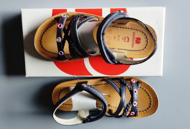 ELEFANTEN nowe sandały r. 28 skóra sklep 159 zł granatowe