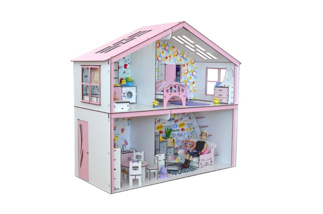 Шикарный домик для кукол Барби. Дитячий будиночок для Барбі