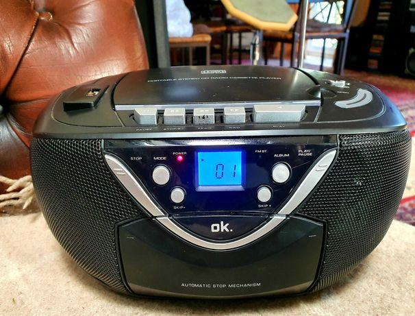 Radio magnetofon z USB AUX i CD
