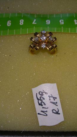 Pierścionek złoty z diamentami w cenie 5600 zł
