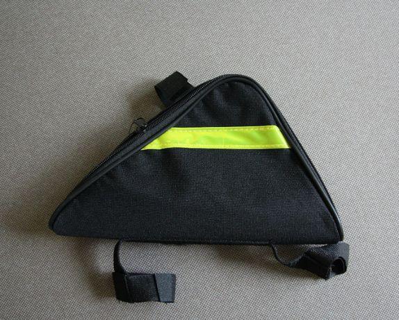 Треугольная сумка на раму велосипеда!