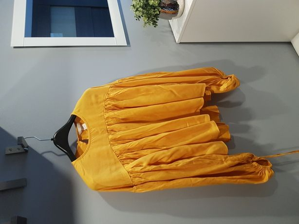 Bluzka pomarańczowa Boho H&M Magda Knitter S/36
