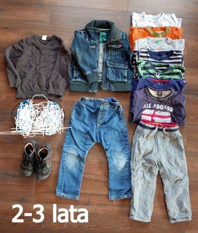 Zestaw ubrań 2-3 lata: spodnie, kurtka, koszulki