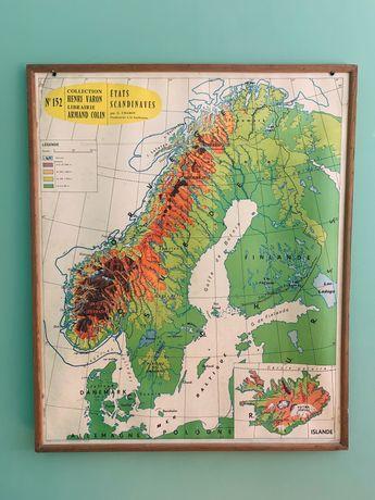 Mapa vintage grande (dupla face)