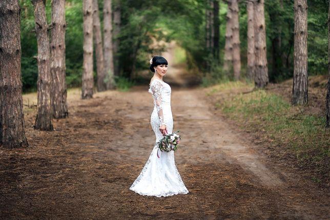 Свадебное платье с кружевами куплено в США в 2020 году