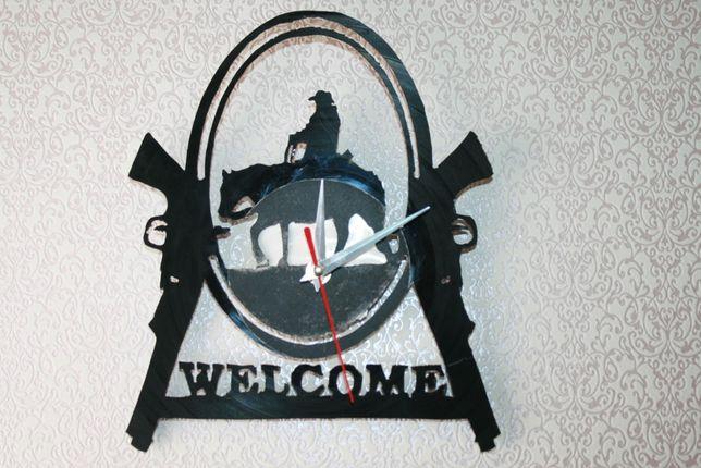 Relógio de Parede em Vinil - COWBOY -WELCOMME