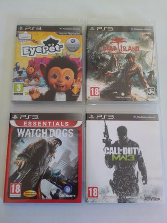 Jogos PS3 - Watch Dogs. Eyepet. Dead Island. Call of Duty