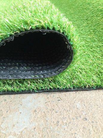 Штучна трава. Искусственный декоративный газон. Ландшафтная трава 7 мм