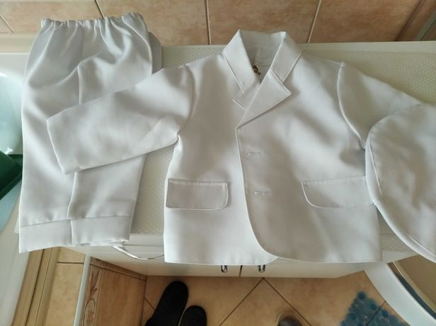 Ubranko do chrztu chłopiec 68 74 garnitur biały