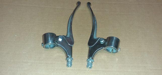 Zestaw klamki+uchwyty dźwignia sprzęgła/hamulca wsk125/175 +sruby regu