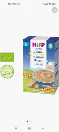 Детская молочная каша Hipp c бисквитом