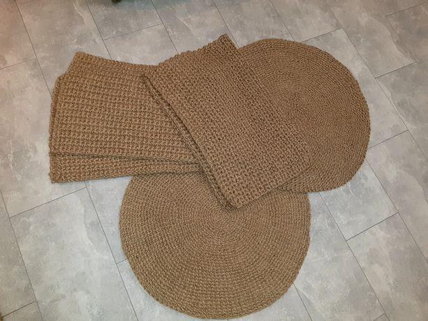 Ковер , коврик из джута , круглый , прямоугольный