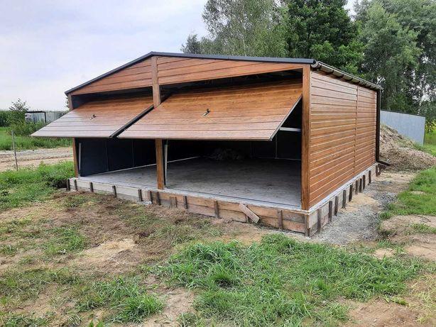 Garaż Drewnopodobny 6m x 5,5m Garaże Blaszak Brama Garażowe