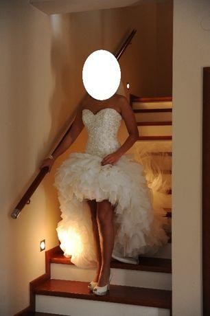 Sprzedam śliczną suknie ślubną z welonem