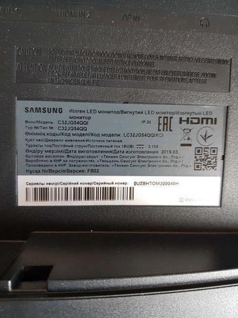 Samsung С32JG54QQI 32 дюйма. Битая матрица, комплектный - 1000грн.