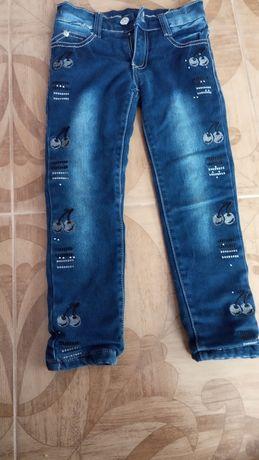 Утеплені джинси для дівчаток