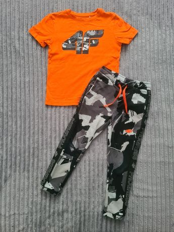 Koszulka spodnie 4f r 110/116 komplet