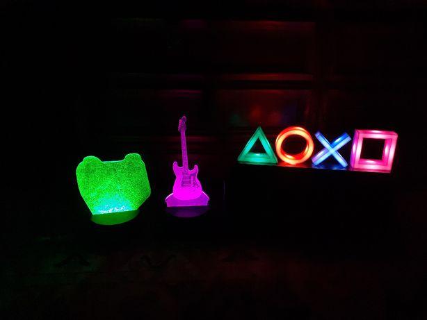LED´s Playstation e Guitarra