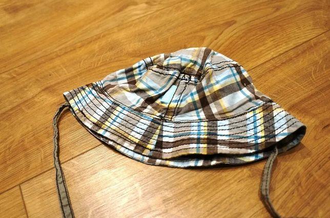 1. DZIECI H&M czapeczka letnia r. 80 w kratkę! czapka, kapelusz