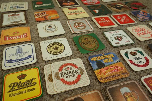 Podkładki pod piwo, kolekcja - stare i unikatowe, 243 rodzaje + 76
