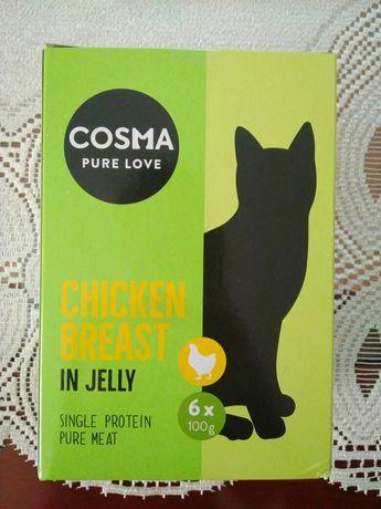 cosma chicken breast karma dla kota mokra saszetki