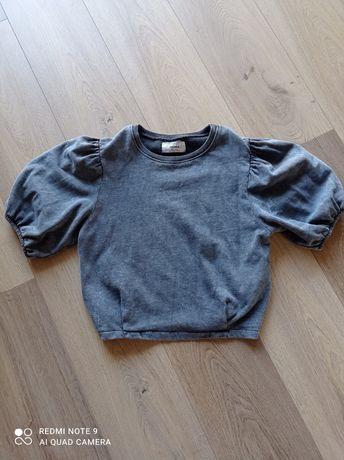 Bluzka bluza pull & bear 36 S krótka szara nowa