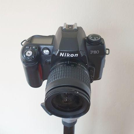 Nikon f80 z obiektywem 28-80 f/ 1:3,3-5.6G