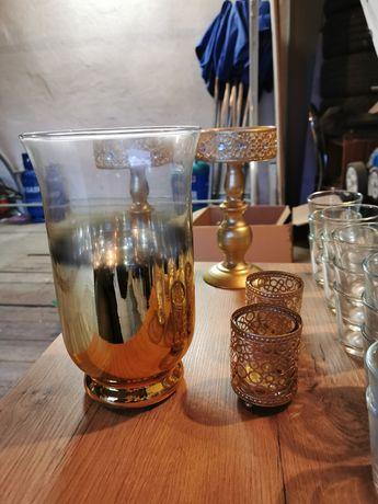 Sprzedam dekoracje, ślub, wazon, świecznik, kielich