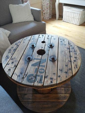 Stół na taras, szpula po kablach