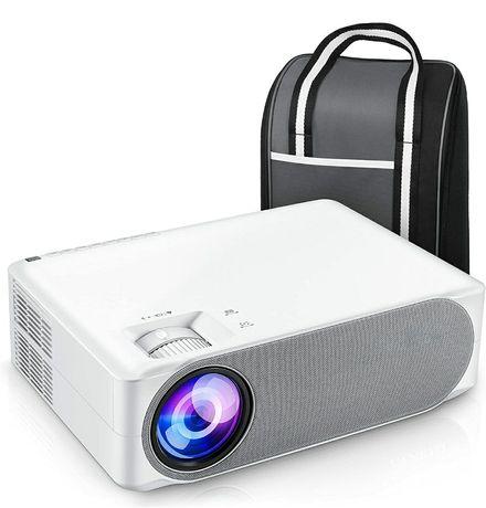 Projetor led 7000 lumens/NATIVA 1080p/Keystone 4D+Mala Transporte/4 k