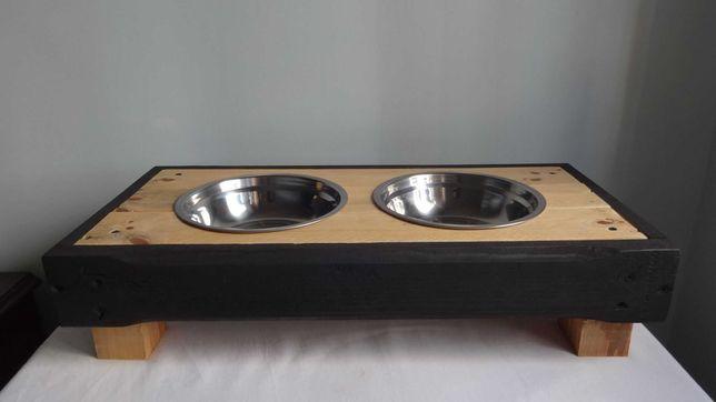 Comedouros personalizados em madeira para cães e gatos
