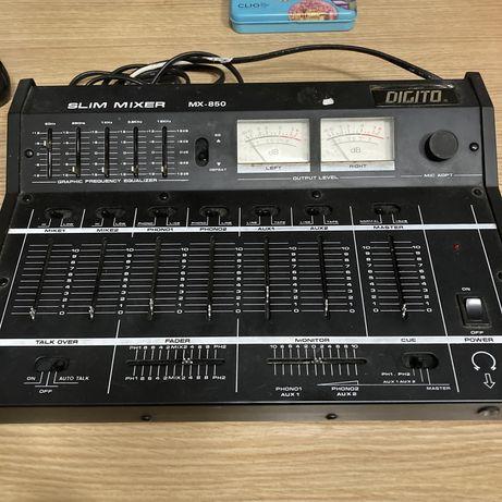 Mesa som / mistura DJ Digito Slim Mixer MX-850