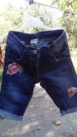 Бриджи джинсовые детские 120 см