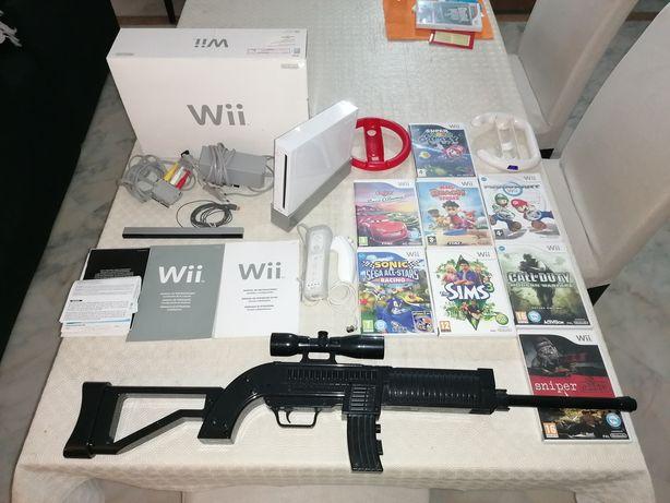 MEGA PACK! Nintendo Wii completa + jogos + acessórios (descrição)
