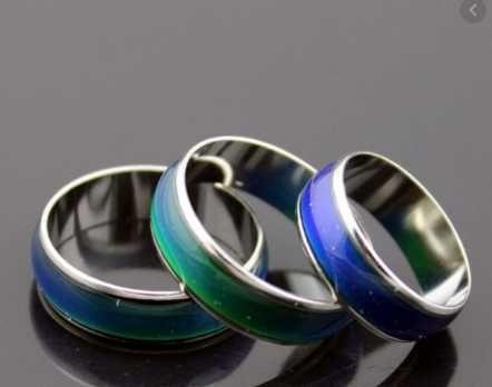 Термо кольцо настроения хамелеон mood ring