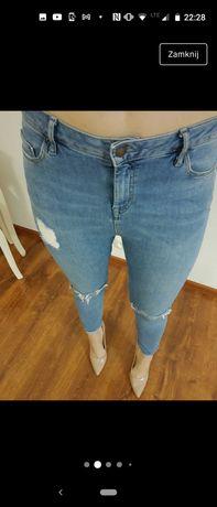 Spodnie jeansy skinny 38 Top shop