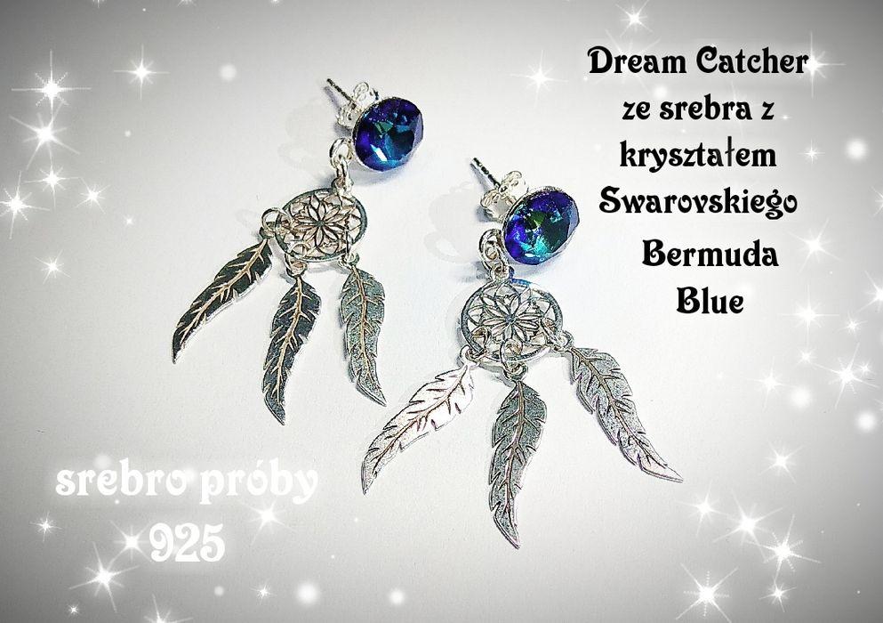 Kolczyki srebrne z kryształem Swarovskiego Katowice - image 1