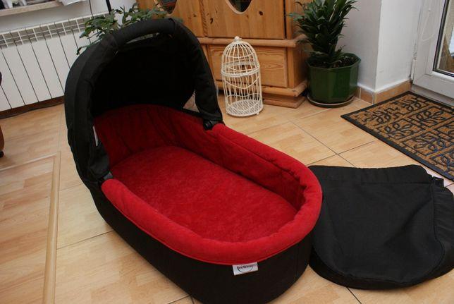 Gondola Teutonia czarno czerwona
