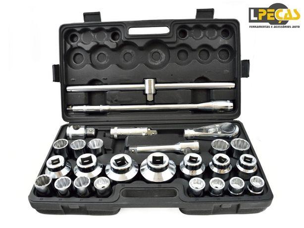 """Conjunto de Chaves de Caixa 3/4"""" e 1"""" 21-65mm - 26pcs"""