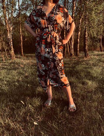 Sukienka kimono z kieszeniami 100% viskoza