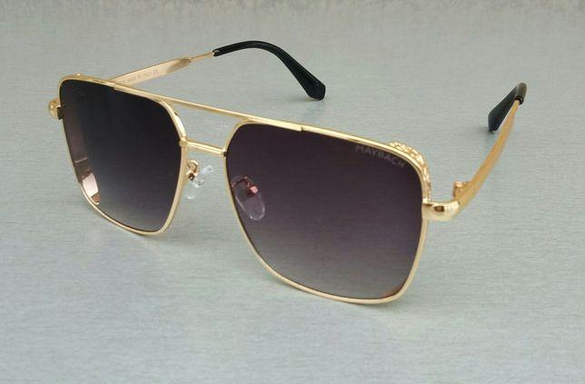 Maybach очки мужские черно фиолетовые в золоте градиент